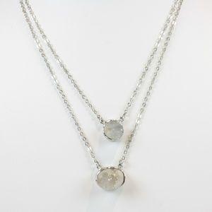 Ann Taylor Necklace Double Chain + Pendants